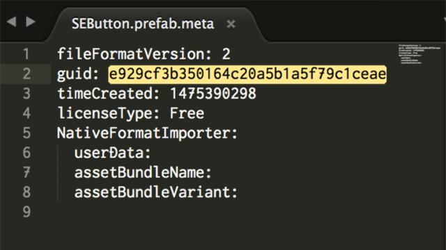 metaファイルをテキストエディタで開く
