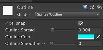Sprites/Outlineのパラメータ