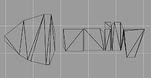 ワイヤフレームのUnityロゴ